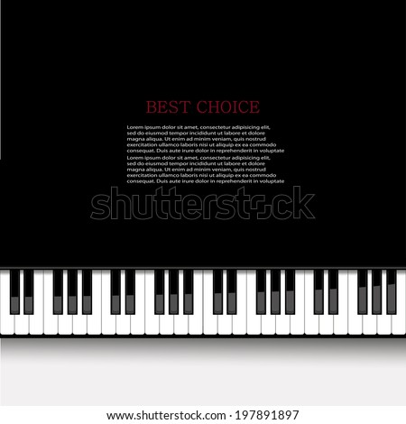 Vector modern piano background. Eps 10 illustration