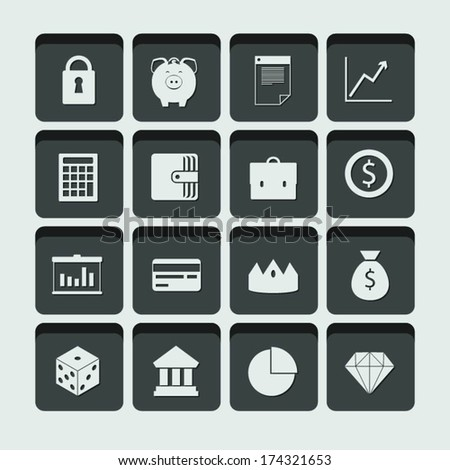 vector money and finance icons