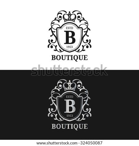 Vector Monogram Logo Template Luxury Letter Stock Vector ...