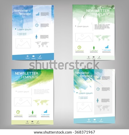 Vector newsletter, flyer background design