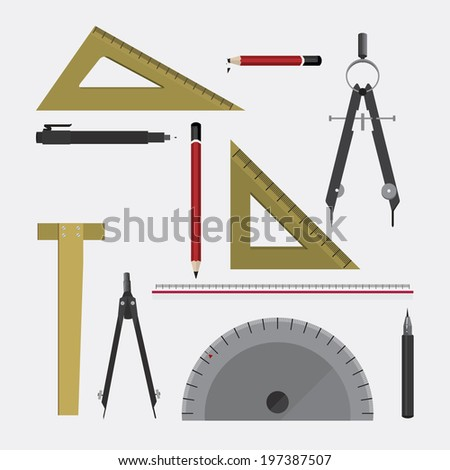 Vector illustration measurement stock vector 81498415 for Online architect drawing tool free
