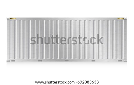 Vector cargo container shipping transportation work stock for Surface container