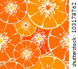 Vector orange pattern - stock vector