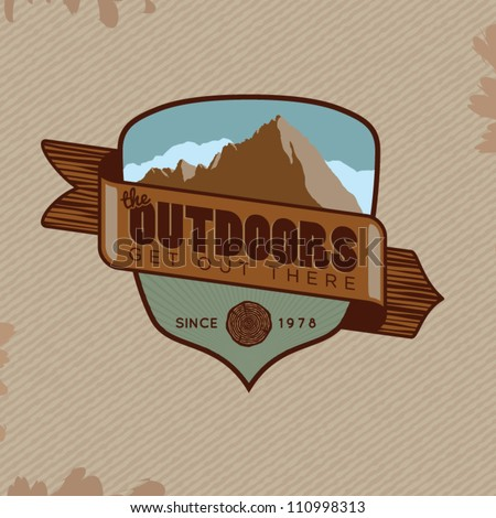 Vector Outdoor Adventure Crest