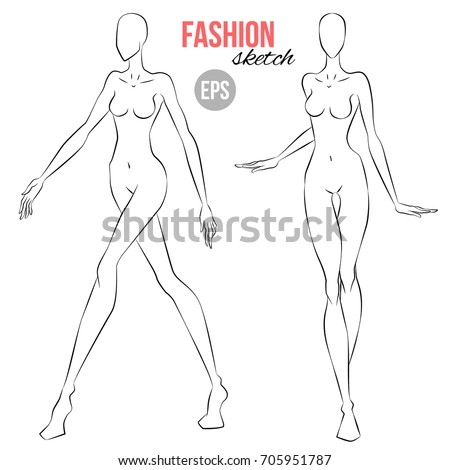 how to draw woman figure