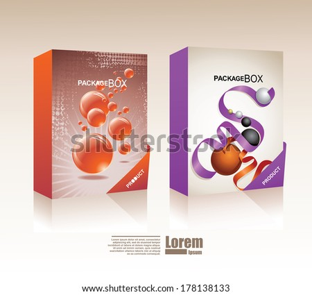 Vector packaging box