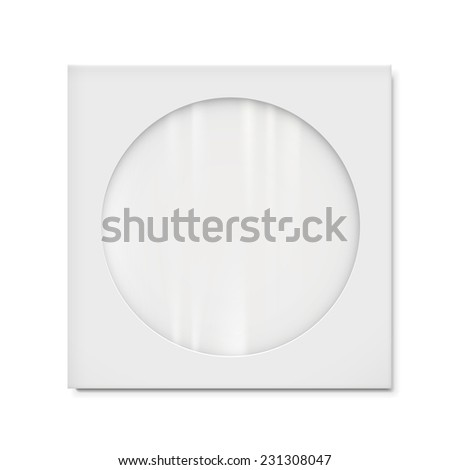 vector paper bag with transparent window isolated on white background