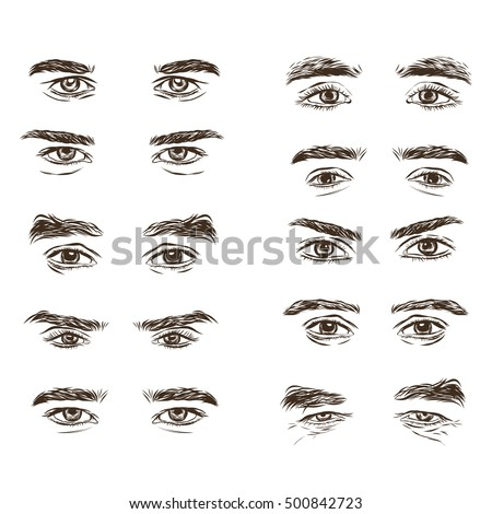 Vector Part Male Person S Eyes Stock Vector 500842693 ...