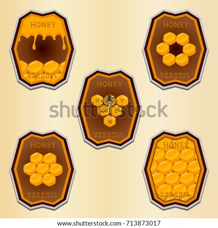 Vector Pattern Beehivehoney Nectarhive Swarm Winged Beehoneycombwax