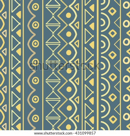 Vector pattern. Vertical seamless pattern.Hand drawn texture. Aztec, indian, african, ethnic, bo ho motifs. Perfect for printing on fabric