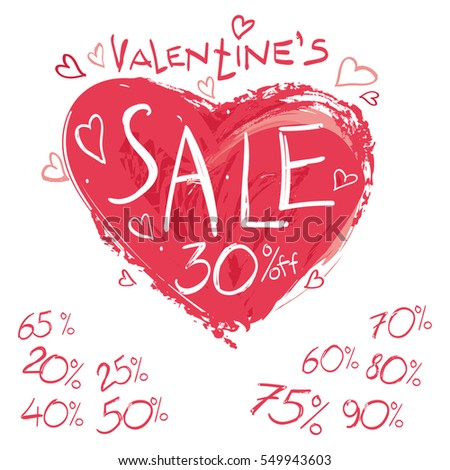 Vector Picture Hearts Illustration Love Romantic Stock ...