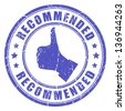 Vector recommended stamp - stock photo
