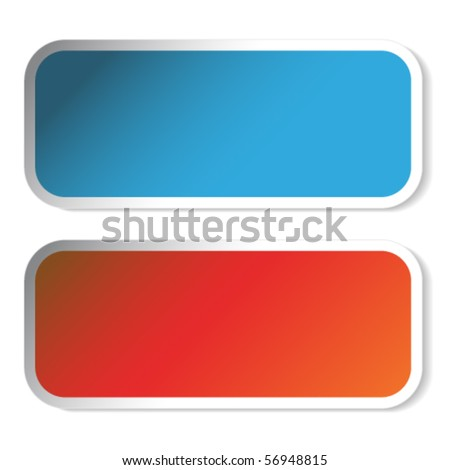 Vector rectangle stickers