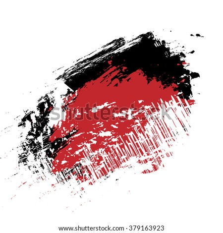 vector red and black grunge brush strokes ink paint isolated on white background