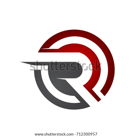 Red Circle With R Logo Initial Letter ...