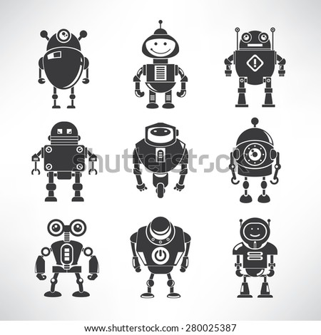 vector robot icons