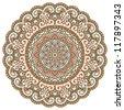Vector round decorative design element - stock vector