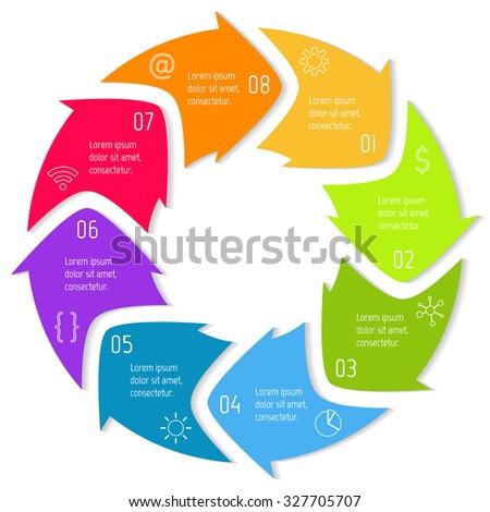 Circular Arrows Infographics Chart Graph Diagram Stock ...