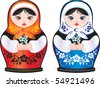 Vector. Russian beauty matreshka - stock vector