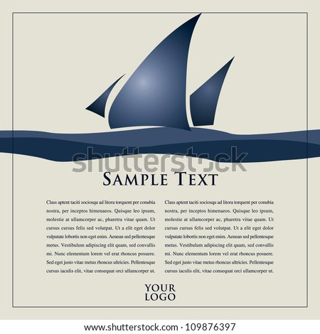 Vector Sails with text for your design, advertisement