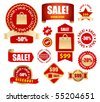 vector sale tags and labels - stock vector