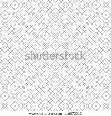vector seamless abstract line floral pattern background