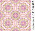 vector seamless colorful floral pattern background - stock photo