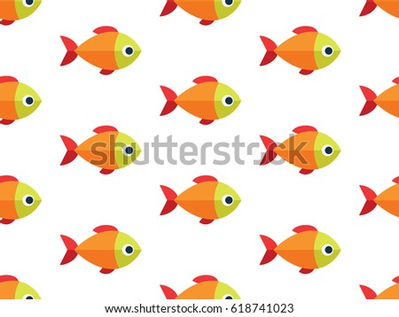 Cartoon fish seamless pattern raster version stock for Seamless fish tank