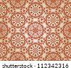 vector  seamless floral pattern,  fully editable eps 8 file with clipping mask, elements can be used separately and combined, easy to change colors, pattern in swatch menu - stock vector