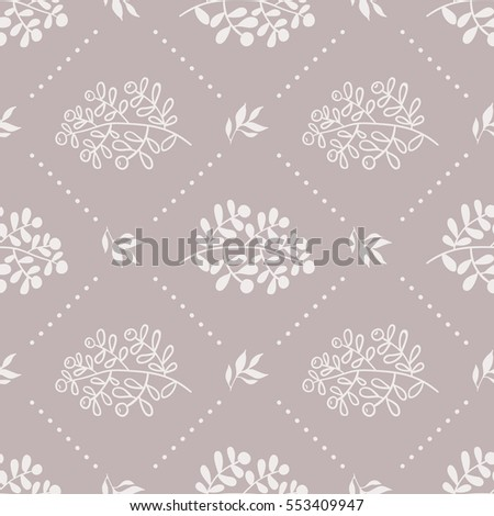 Vector seamless floral pattern. Seamless pattern can be used for wallpaper, pattern fills, web page background,surface textures.