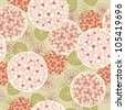 Vector seamless floral pattern. Vintage background with flowers and leaves. Stylized blooming garden. Abstract ornamental illustration for wallpaper, textile, cover, paper. - stock vector