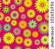 Vector seamless - flower pattern - stock vector