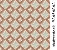 vector seamless geometric pattern in brown and gray colors - stock photo