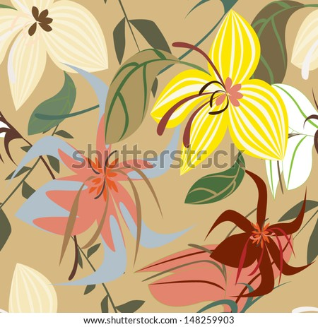 Vector seamless pattern floral