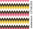 Vector seamless pattern in zig zag - stock vector