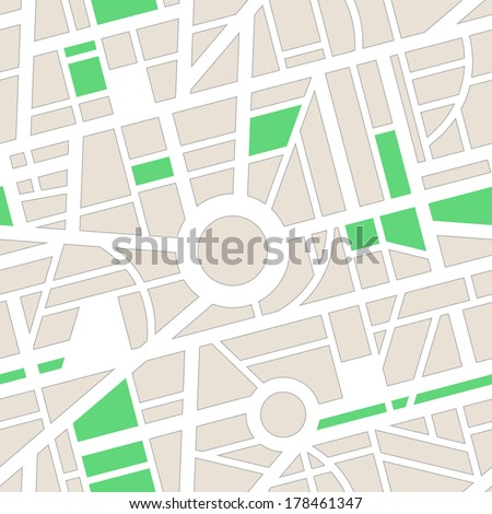 Vector seamless pattern. Minimal city map. Roads, navigation, GPS. Use for pattern fills, surface textures web page background, wallpaper.