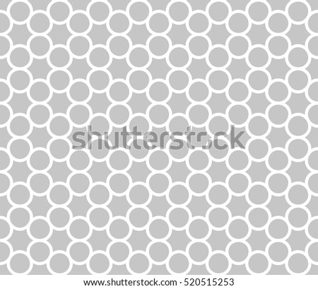 Vector seamless pattern. Modern stylish texture. Repeating circles with hexagonal elements