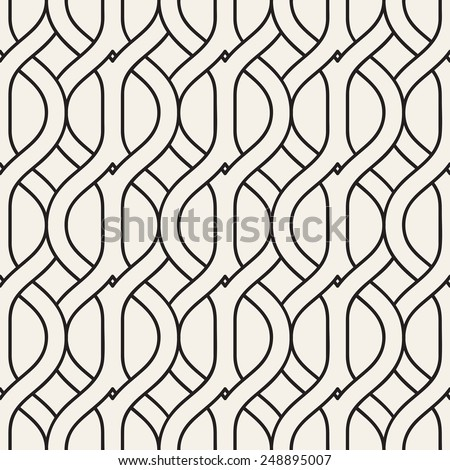 Vector seamless pattern. Modern stylish texture. Repeating geometric background with interlaced grids