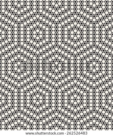 Vector seamless pattern. Modern stylish texture. Repeating geometric tiles with dotted hexagons. Contemporary graphic design. Minimalistic geometric background