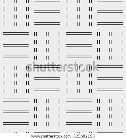 Vector seamless pattern. Modern stylish texture. Repeating geometric tiles with hexagonal simple grid. Monochrome minimalistic print
