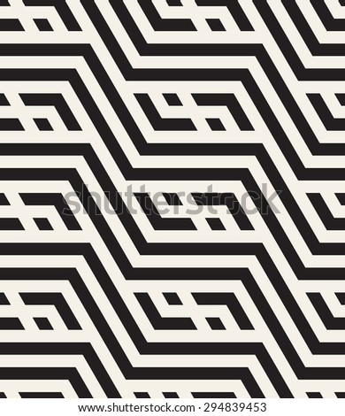 Vector seamless pattern. Modern stylish texture. Repeating geometric tiles with zigzag elements, chevron and rhombuses. Contrast stylish print.
