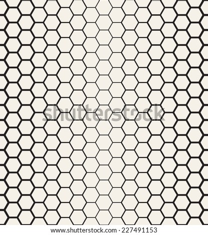 Seamless Hexagon Grid Vector Illustration Stock Vector