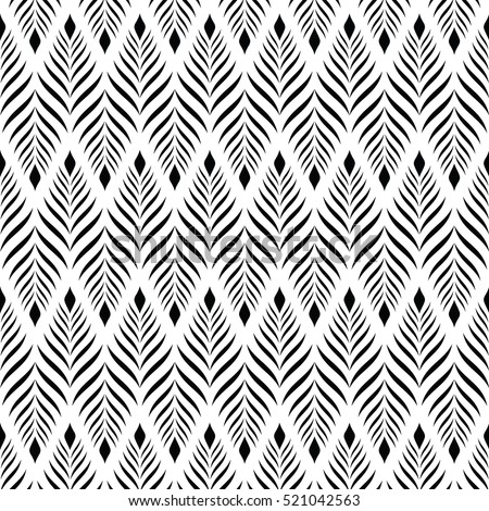 Vector seamless pattern modern stylish texture stock for Modern patterns black and white
