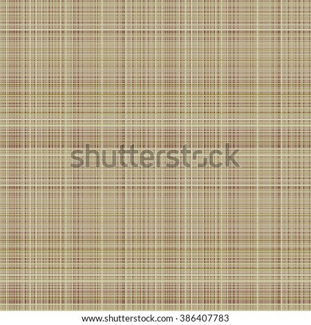 Vector seamless pattern. Pastel checkered background in brown colors, fabric swatch samples texture of linen cloth. Series of Seamless Textures.
