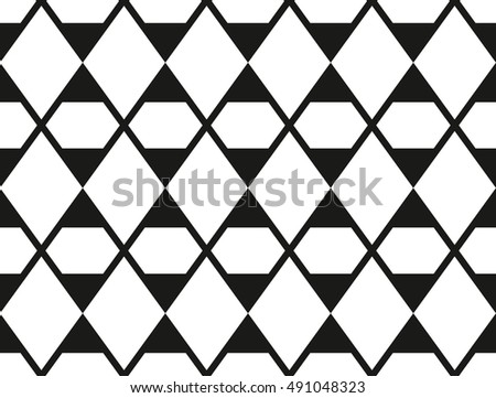 Vector seamless pattern, repeating geometric tiles with rhombuses