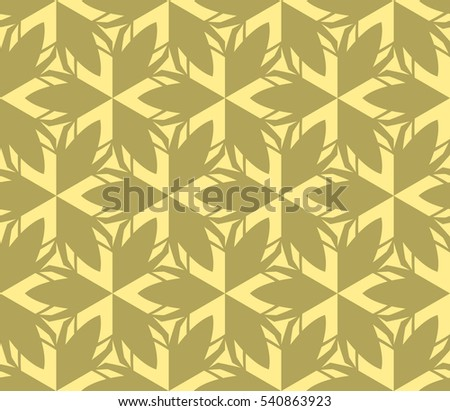 Vector seamless pattern. Stylish fabric print with eastern geometric ornament