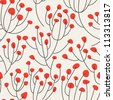 vector seamless pattern. stylish texture. endless floral background - stock vector