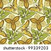 Vector seamless pattern with butterflies - stock photo