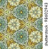 Vector seamless pattern with butterflies. Kaleidoscope - stock photo