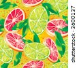Vector seamless pattern with citrus - stock vector